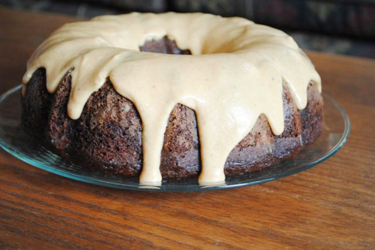 Chocolate Pumpkin Spice Bundt Cake Picture in Chocolate Cake