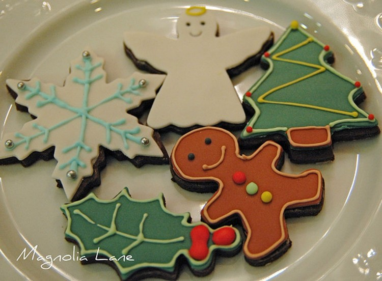 Christmas Chocolate Cut Out Cookies Picture in Chocolate Cake