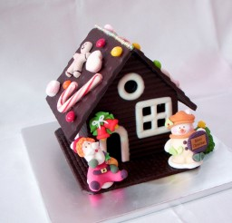 1024x928px Christmas Chocolate House Picture in Chocolate Cake
