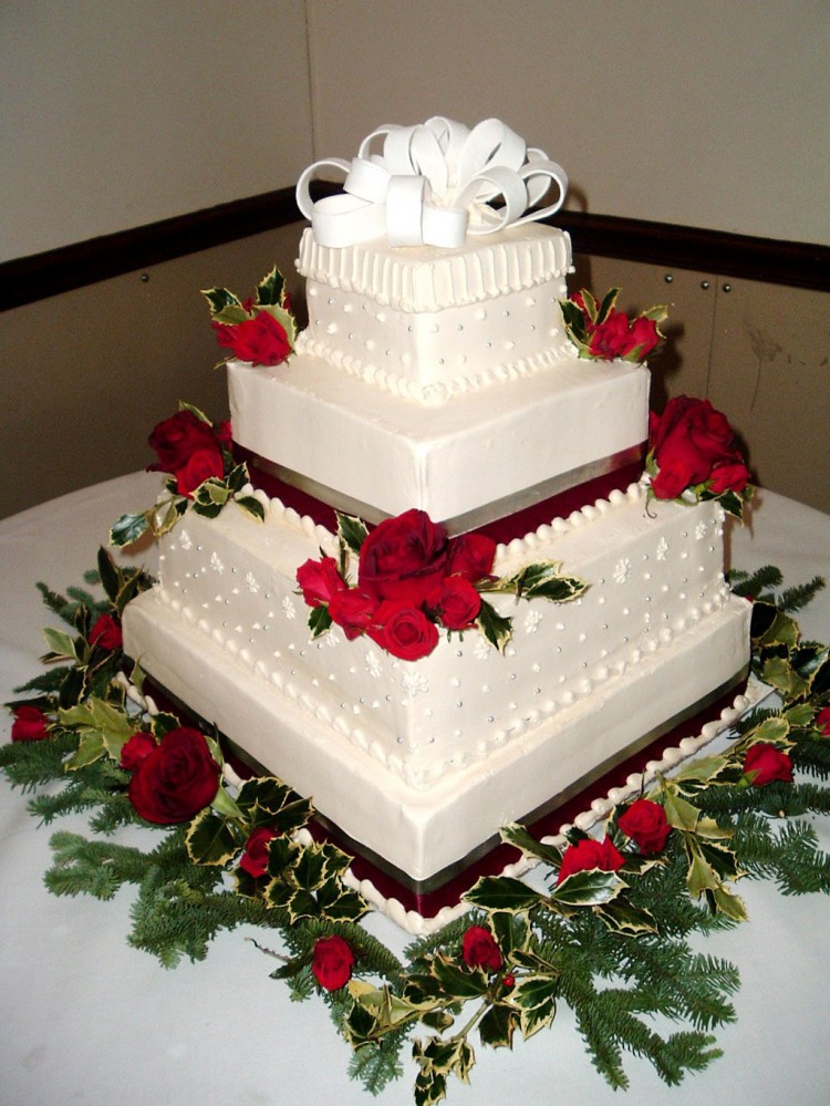 Christmas Wedding Cakes Picture in Wedding Cake