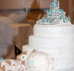 1024x1288px Cinderella Castle Wedding Picture in Wedding Cake