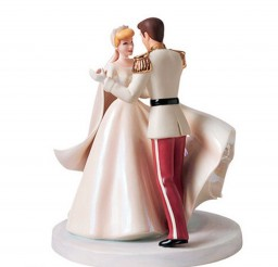 1024x948px Cinderella Glitter Wedding Cake Toppers Picture in Wedding Cake