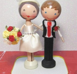 1024x1330px Clothespin Doll Wedding Cake Topper Picture in Wedding Cake