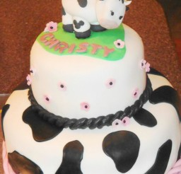 1024x1365px Cow Birthday Party Cakes Picture in Birthday Cake