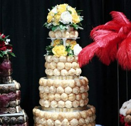 1024x1372px Cream Puff Croquembouche Wedding Cake Picture in Wedding Cake