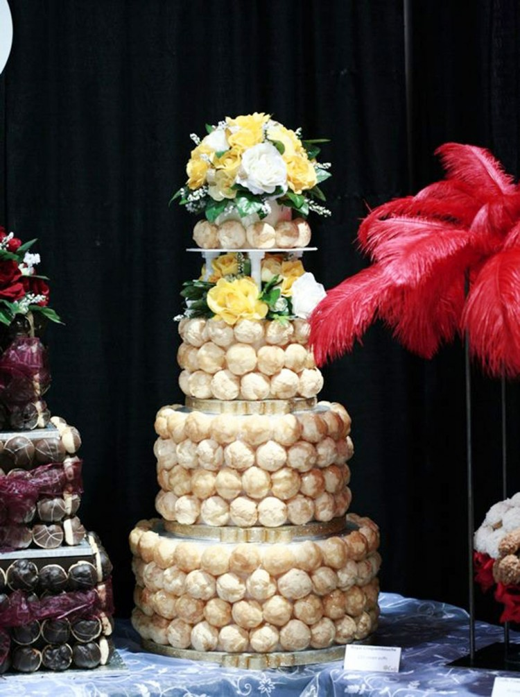 Cream Puff Croquembouche Wedding Cake Picture in Wedding Cake