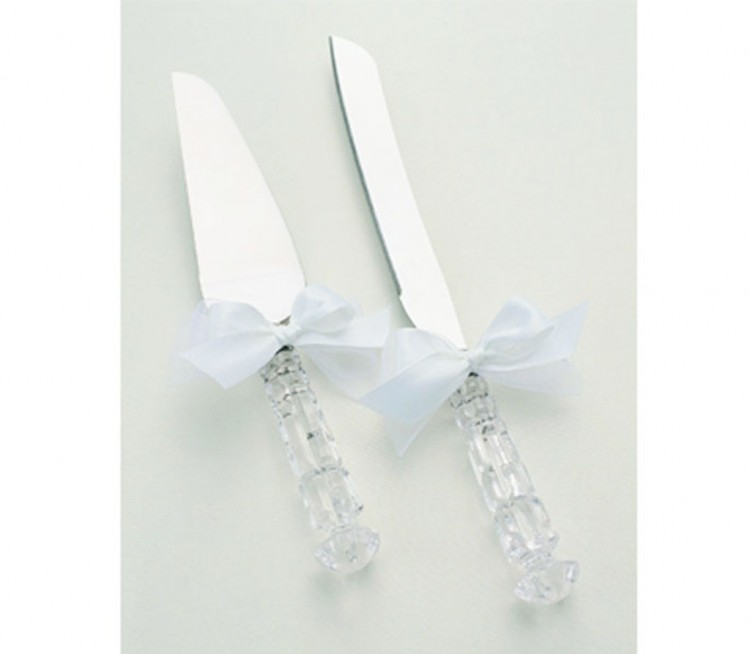 Crystal Wedding Cake Knife Server Set Picture in Wedding Cake