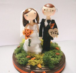 1024x1365px Custom Autumn Wedding Cake Topper Picture in Wedding Cake