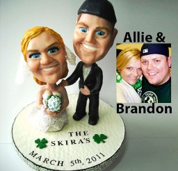 1024x1092px Custom Bobblehead Wedding Cake Toppers Picture in Wedding Cake