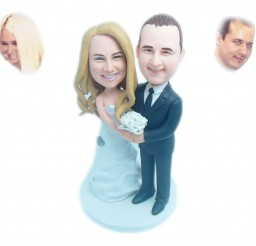 1024x850px Custom Bride And Groom Wedding Cake Toppers Picture in Wedding Cake