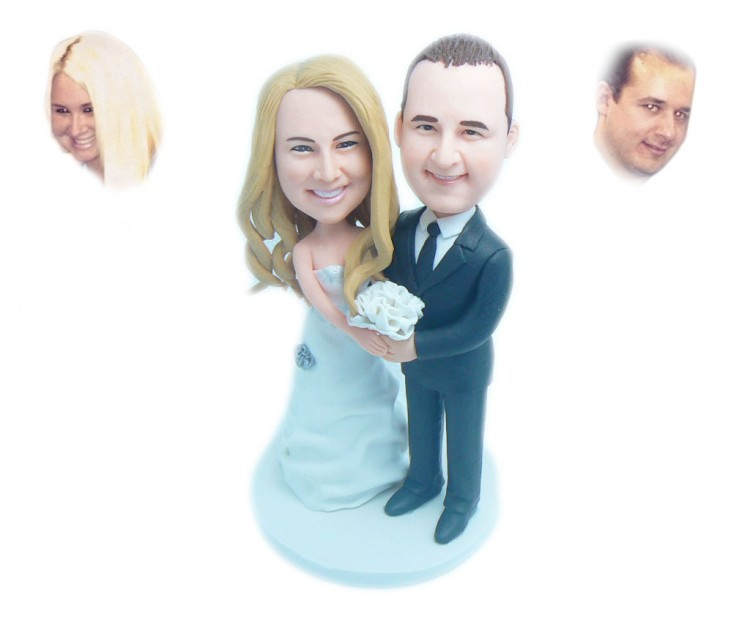 Custom Bride And Groom Wedding Cake Toppers Picture in Wedding Cake