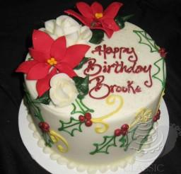 1024x1147px Custom Christmas Birthday Cakes Picture in Birthday Cake