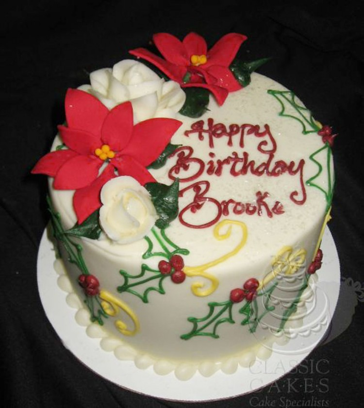 Custom Christmas Birthday Cakes Picture in Birthday Cake