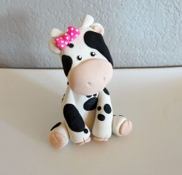 1024x1024px Custom Cow Cake Topper For Birthday Picture in Birthday Cake