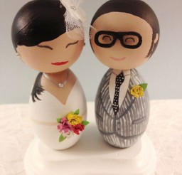 1024x1365px Custom Hipster Bride And Groom Wedding Cake Toppers Picture in Wedding Cake