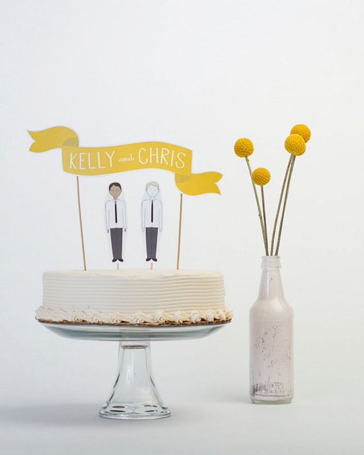 Custom Modern Wedding Cake Toppers Picture in Wedding Cake