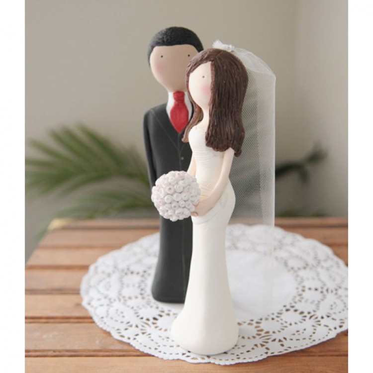 Custom Personalized Wedding Cake Topper Picture in Wedding Cake