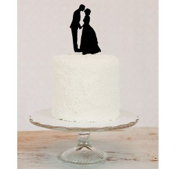 1024x1024px Custom Silhouette Wedding Cake Topper Picture in Wedding Cake