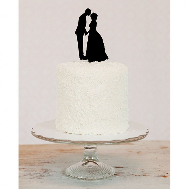 Custom Silhouette Wedding Cake Topper Picture in Wedding Cake