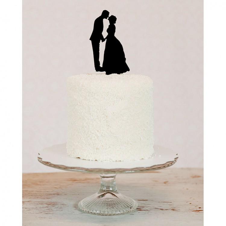 Custom Silhouette Wedding Cake Topper Picture in Wedding Cake
