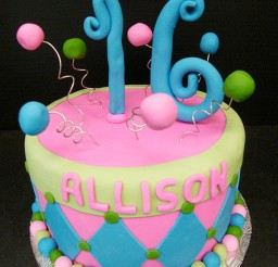 1024x1365px Custom Sweet Sixteen Birthday Cake Picture in Birthday Cake