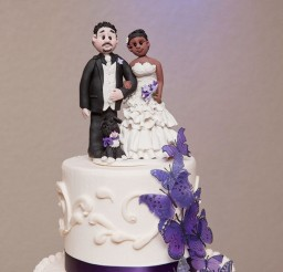 1024x1536px Cute Biracial Wedding Cake Topper Picture in Wedding Cake