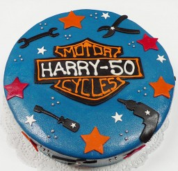 1024x682px Dark Blue Harley Davidson Birthday Cake Picture in Birthday Cake