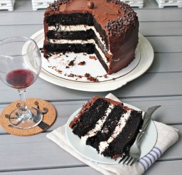 1024x1024px Dark Chocolate Salted Caramel Layer Cake Picture in Chocolate Cake