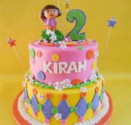 1024x1365px Dora Themed Birthday Cakes Picture in Birthday Cake