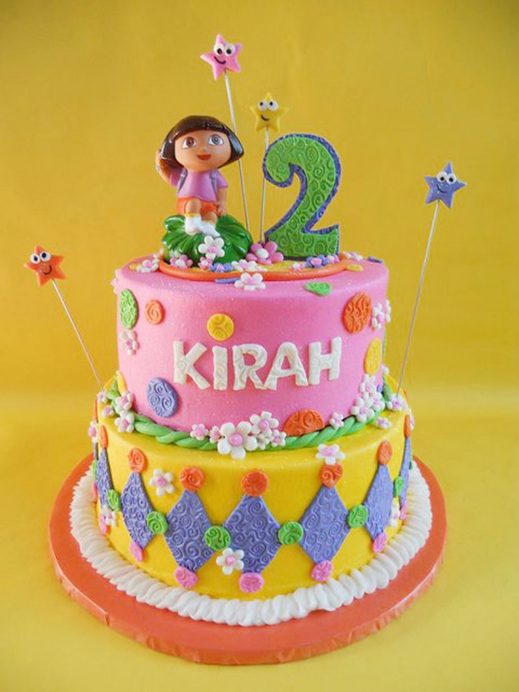 Dora Themed Birthday Cakes Picture in Birthday Cake