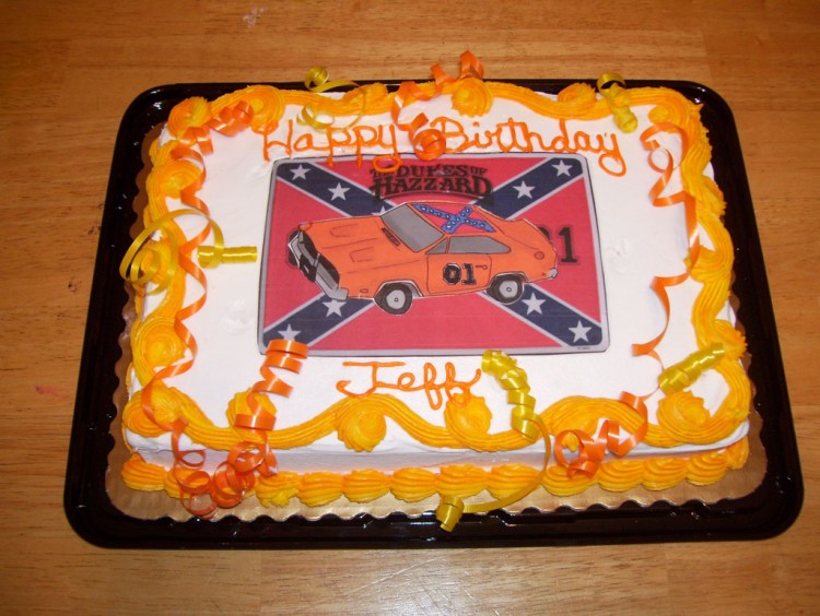 Dukes Of Hazzard Dirthday Cake Picture in Birthday Cake