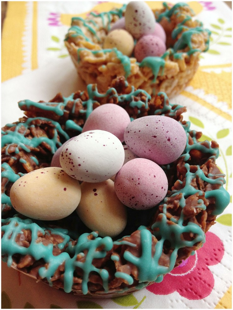 Easy To Make Crunchy Chocolate Easter Nests Picture in Chocolate Cake