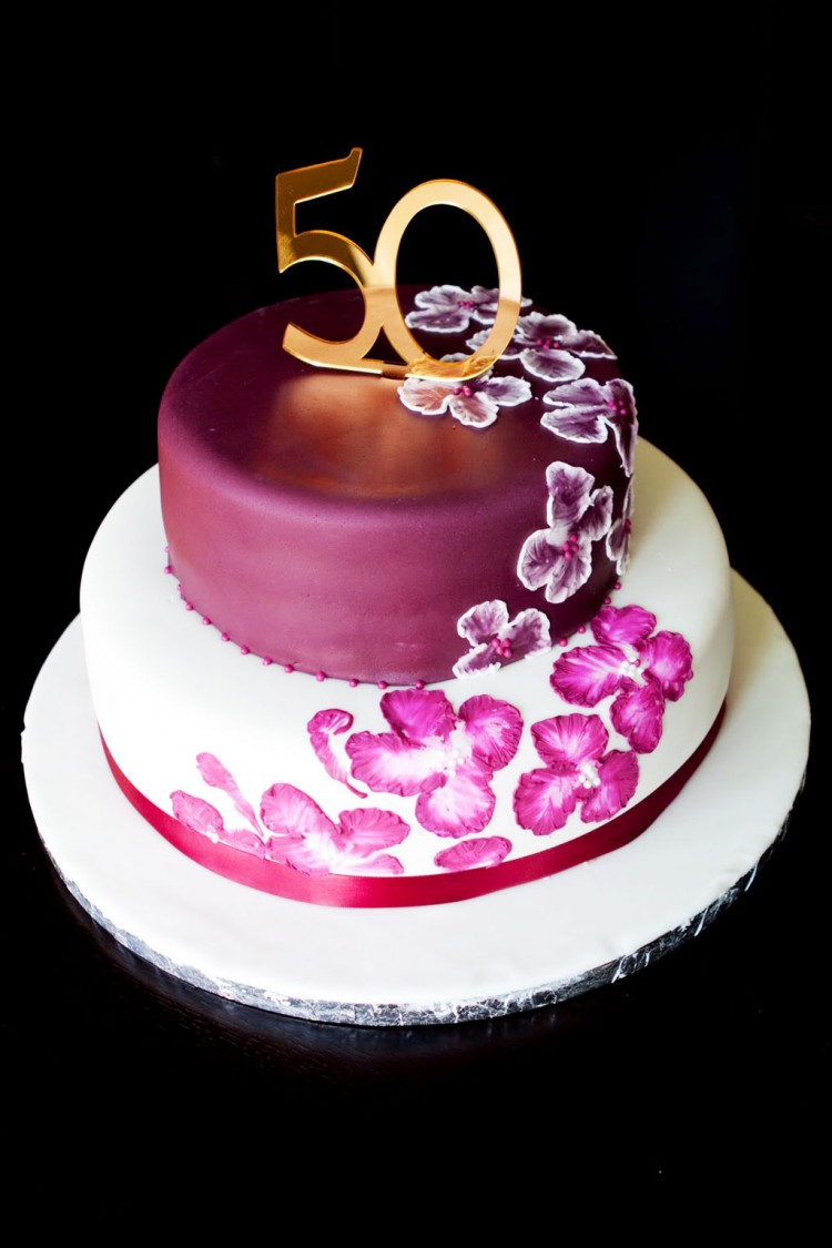Elegant 50th Birthday Cake Ideas Picture in Birthday Cake
