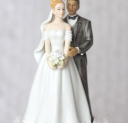 1024x1536px Elegant Interracial Wedding Cake Toppers Picture in Wedding Cake