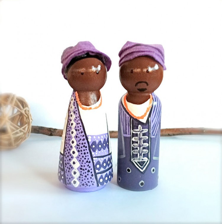 Ethnic African Wedding Cake Toppers Picture in Wedding Cake