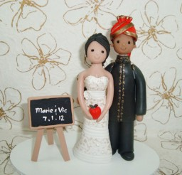 1024x769px Ethnic Couple Wedding Cake Topper Picture in Wedding Cake