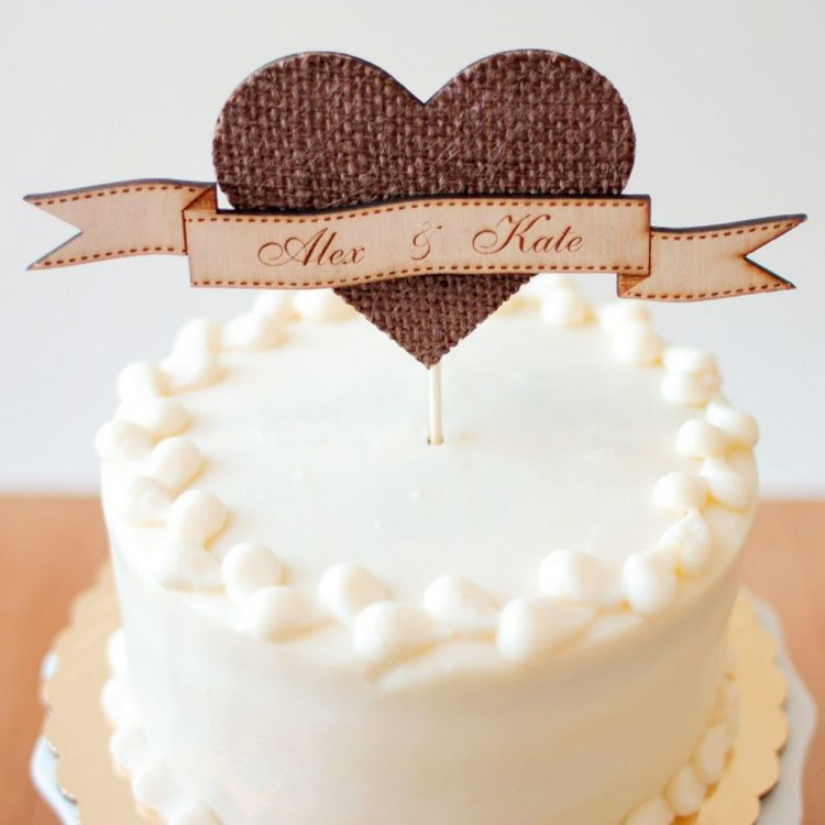 Etsy Rustic Wedding Picture in Wedding Cake