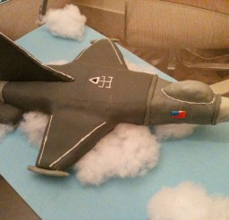1024x768px F16 Falcon Fighter Jet Done For A Birthday Picture in Birthday Cake
