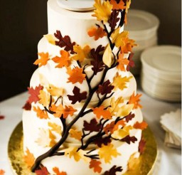 1024x1158px Fall Theme On Wedding Cake Picture in Wedding Cake
