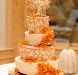 1024x1524px Fall Themed Mosaic Wedding Cake Picture in Wedding Cake