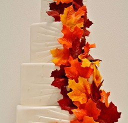 1024x1564px Fall Themed Wedding Cake Photo Picture in Wedding Cake