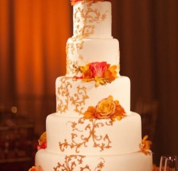 1024x1340px Fall Theme Orange Wedding Cake Picture in Wedding Cake