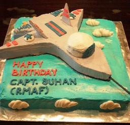 1024x768px Fighter Jet Birthday Cake Ideas Picture in Birthday Cake