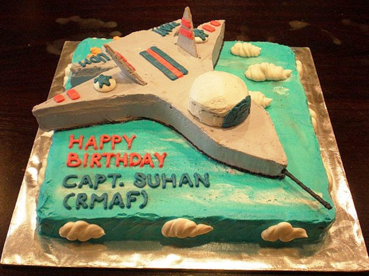 Fighter Jet Birthday Cake Ideas Picture in Birthday Cake