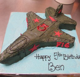 1024x768px Fighter Jet F16 Birthday Cake Picture in Birthday Cake
