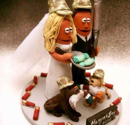 1024x1365px Fishing And Hunting Wedding Cake Topper Picture in Wedding Cake