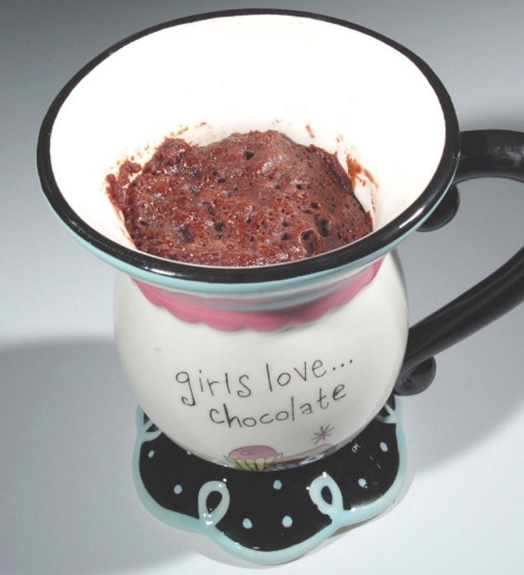 Five Minute Chocolate Mug Cake Picture in Chocolate Cake