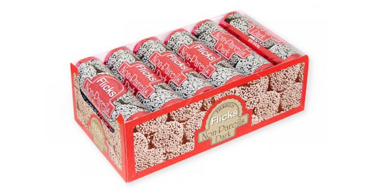 Flicks Non Pareils Dark Chocolate Wafers Picture in Chocolate Cake