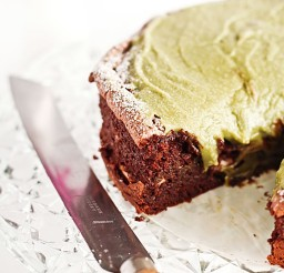 1024x1147px Flourless Chocolate Cake With Green Tea Icing Sugar Free Picture in Chocolate Cake