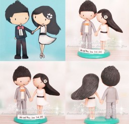 1024x1024px Fun Cartoon Wedding Cake Topper Picture in Wedding Cake